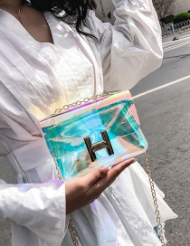 Fashion Transparent H Letter Decorated Bag