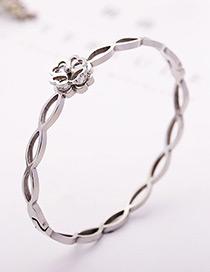 fashion Silver Color Clover Shape Decorated Bracelet