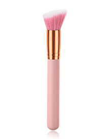Fashion Pink Oblique Shape Design Cosmetic Brush(1pc)