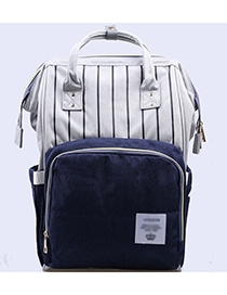 Fashion Navy Stripe Pattern Decorated Backpack