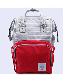 Fashion Red Stripe Pattern Decorated Backpack