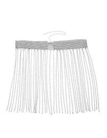 Fashion Silver Color Tassel Decorated Waist Chain