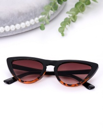 Fashion Brown Oval Shape Design Simple Sunglasses