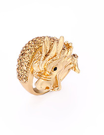Fashion Gold Color Dragon Shape Decorated Ring