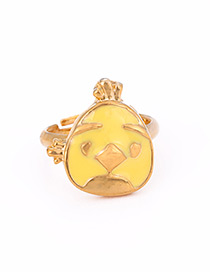 Fashion Yellow Bird Shape Decorated Ring