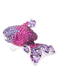 Fashion Purple Fish Shape Decorated Ring