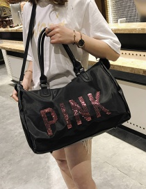 Fashion Black Letter Pattern Decorated Handbag
