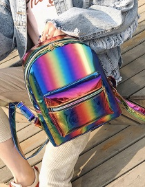 Fashion Multi-color Zipper Decorated Backpack