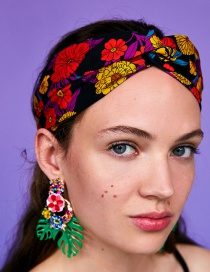 Fashion Multi-color Daisies Pattern Decorated Hair Band