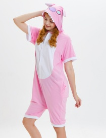 Lovely Pink Cartoon Pattern Decorated One-piece Pajamas(for Adult)