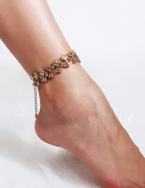 Fashion Gold Color Balls Decorated Pure Color Anklet(1pc)