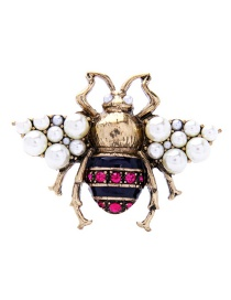 Fashion Red Insect Shape Design Simple Brooch