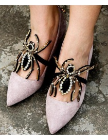 Fashion Black Spider Shape Decorated Shoes Accessories(1pc)