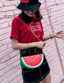 Fashion Red Watermelon Pattern Decorated Shoulder Bag