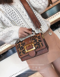 Fashion Brown Leopard Pattern Decorated Bag