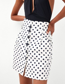 Fashion White Dots Pattern Decorated Skirt