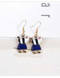 Fashion Navy Small Pig Shape Design Earrings