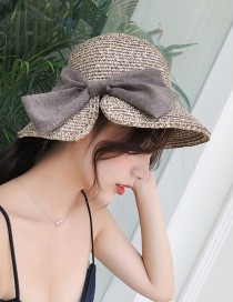 Fashion Khaki Bowknot Shape Decorated Hat