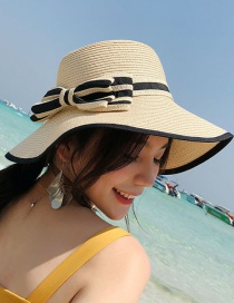 Fashion Beige Bowknot Shape Decorated Hat