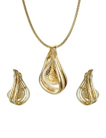 Fashion Gold Color Geometric Shape Decorated Jewelry Sets