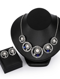 Fashion Silver Color Round Shape Decorated Jewelry Sets