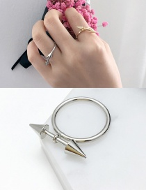 Fashion Silver Color Arrow Shape Decorated Ring