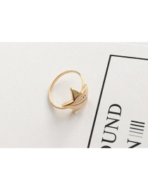 Fashion Gold Color Star Shape Decorated Ring