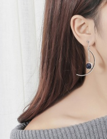 Fashion Silver Color Semicircle Shape Decorated Earrings
