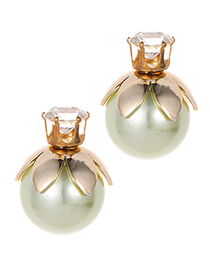 Fashion Green Ball Shape Decorated Earrings
