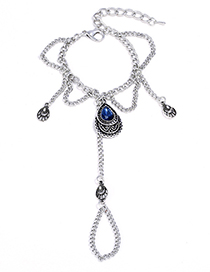Fashion Silver Color Waterdrop Shape Decorated Bracelet