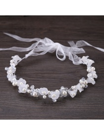 Fashion White Flower Shape Decorated Hair Accessories