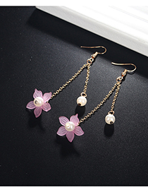 Fashion Purple Flower Shape Decorated Earrings