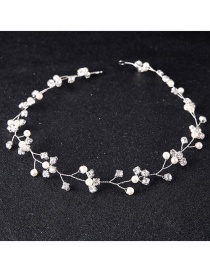 Fashion Silver Color Pure Color Decorated Hair Accessories