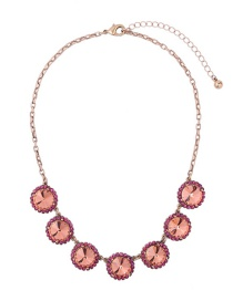 Fashion Champagne Round Shape Decorated Necklace