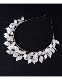 Fashion Silver Color Leaf Shape Decorated Hair Accessories