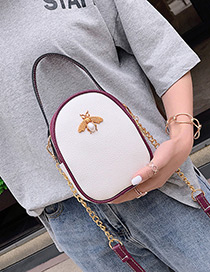 Fashion White Insect Shape Decorated Shoulder Bag