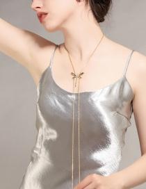 Elegant Gold Color Dragonfly&tassel Decorated Long Necklace