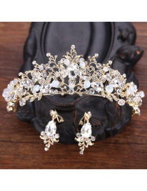 Fashion White Crown Shape Decorated Hair Accessories