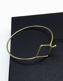 Fashion Gold Color Square Shape Decorated Bracelet