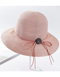 Fashion Pink Pure Color Design Sunscreen Hat