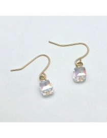 Fashion Transparent Square Shape Decorated Earrings