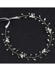 Fashion Silver Color Pure Color Decorated Hair Band