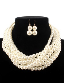 Fashion White Pure Color Decorated Jewelry Sets