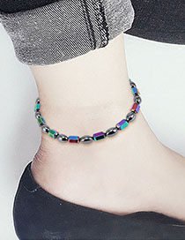 Fashion Multi-color Geometric Shape Decorated Ankle Chain