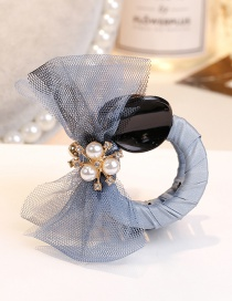 Fashion Blue Bowknot Shape Decorated Hair Clip