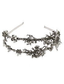 Fashion Antique Silver Flower Shape Decorated Hair Hoop