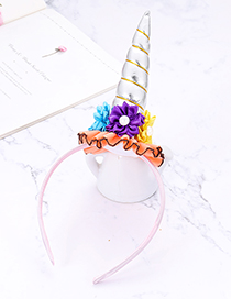 Fashion Silver Color Flower&unicorn Shape Decorated Hair Hoop