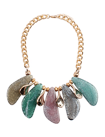 Fashion Multi-color Color Matching Decorated Necklace