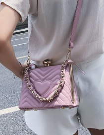 Lovely Pink Heart Pattern Decorated Pure Color Bag