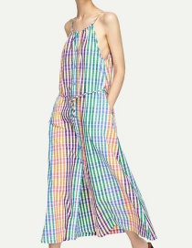 Elegant Multi-color Stripe Pattern Decorated A-line Dress